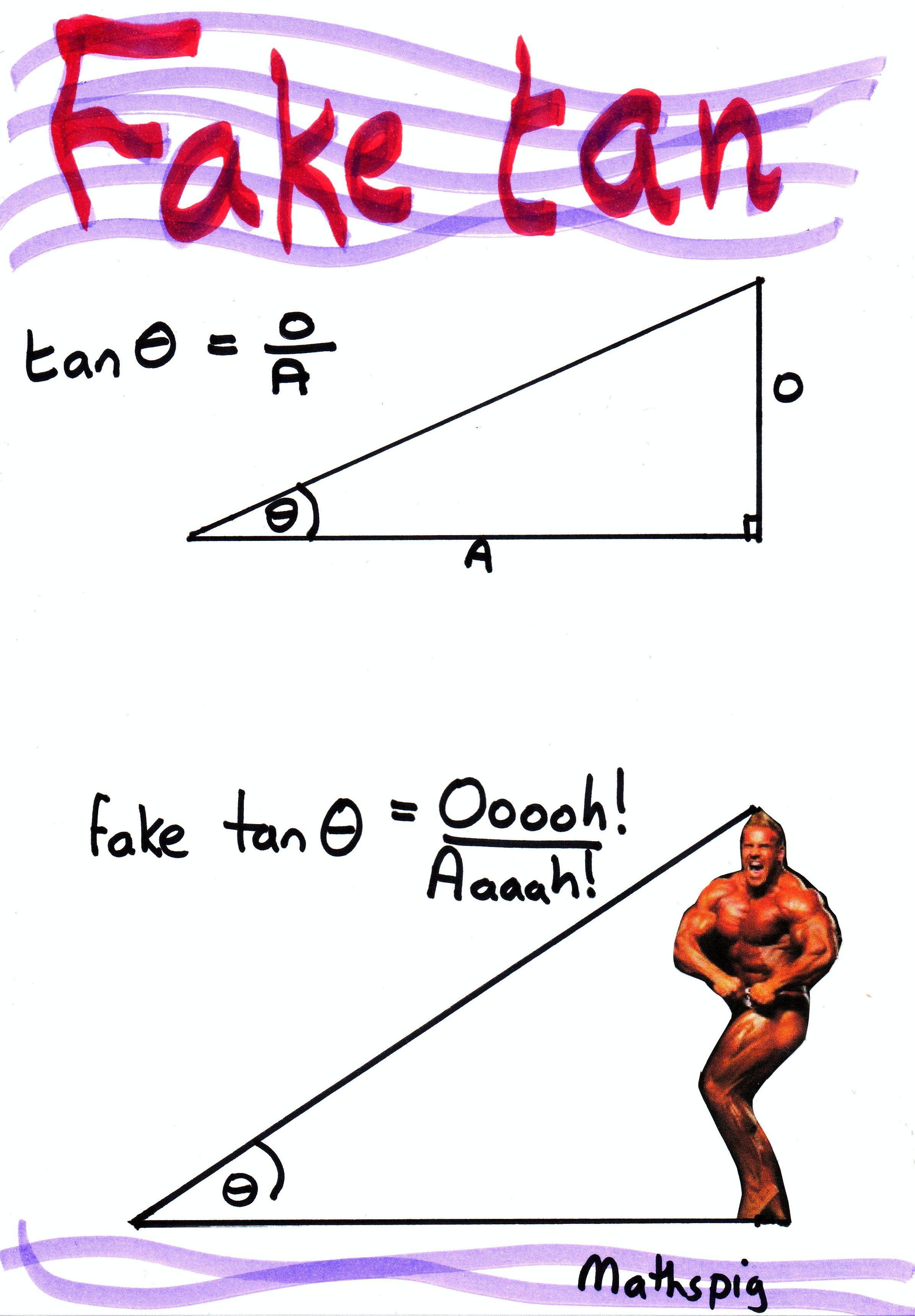 The Trigonometry Of The Fake Tan