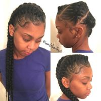 3 Goddess Braids to the side! | Cornrows | Pinterest ...