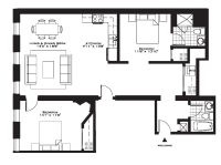 Exquisite Luxury 2 Bedroom Apartment Floor Plans On