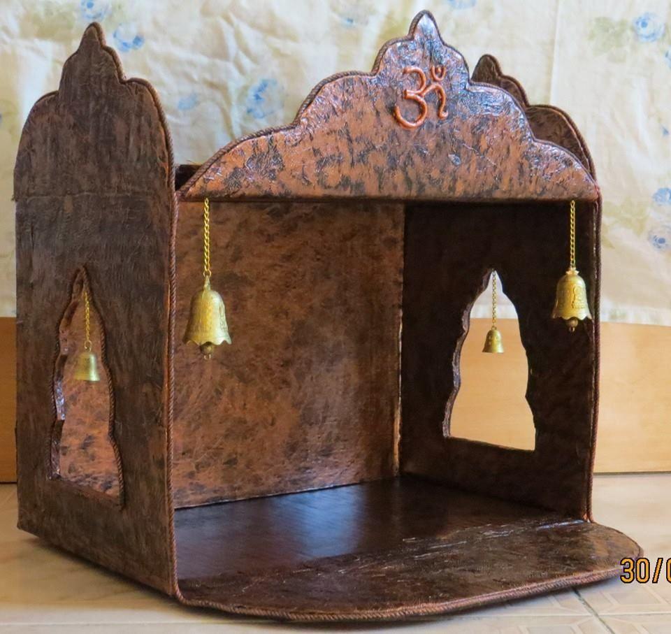 Pooja mandir from a carton  Ganesha Diwali and Decoration