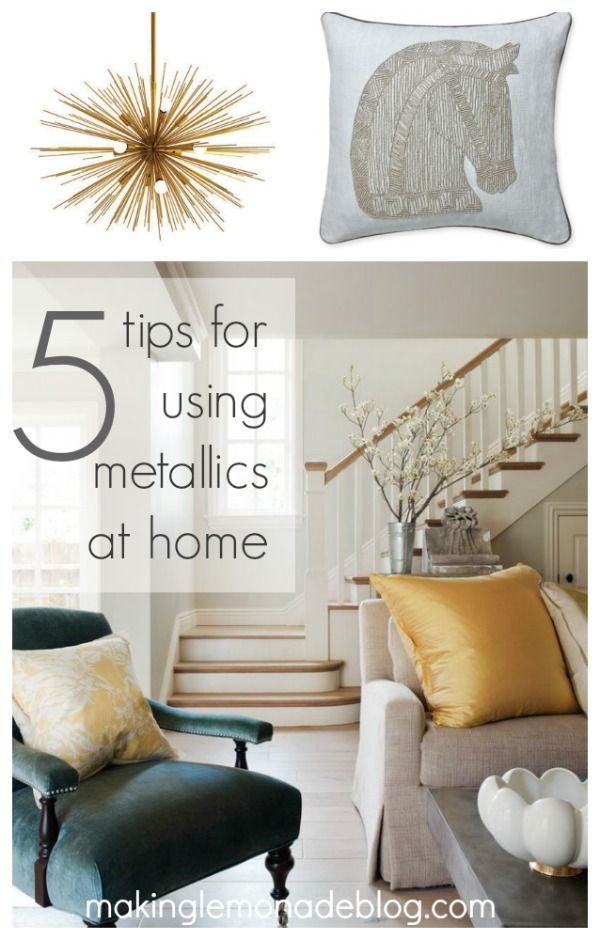 Mixed Metallics Home Decor  How to Mix Gold Silver