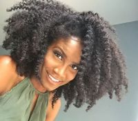 Natural Hair , Braid out on wet hair