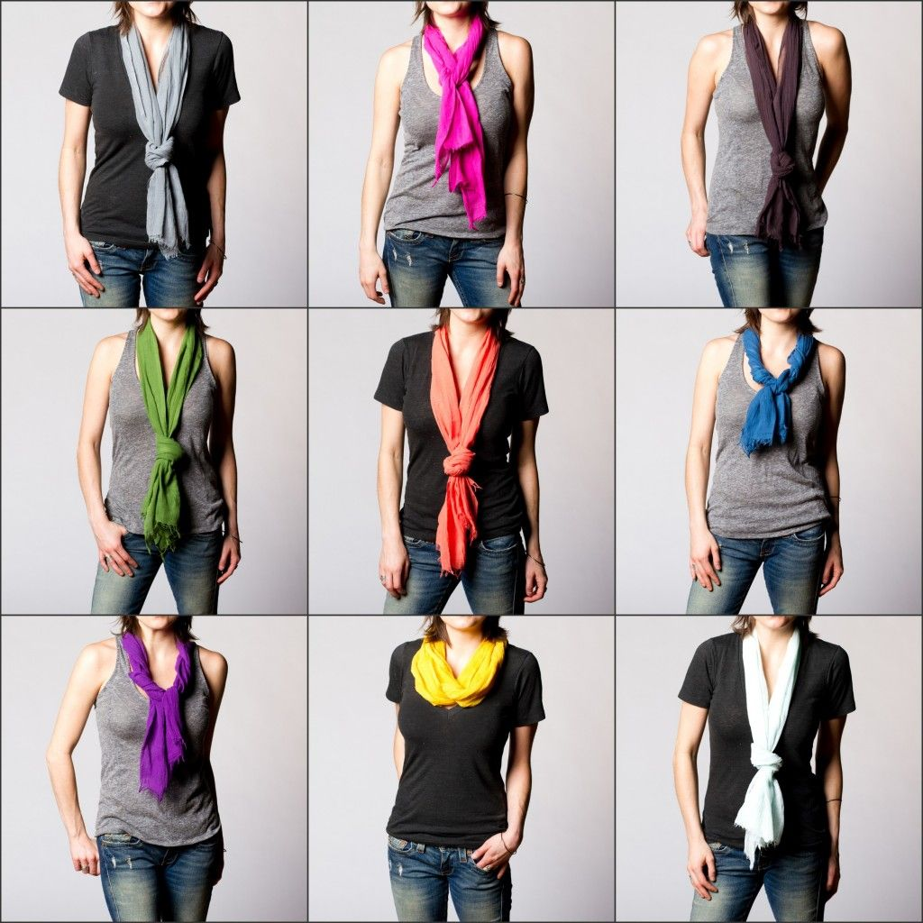 Summer scarves... so HOT right now.