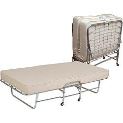Folding Rollaway Bed Twin Size With 6 Inch Foam Mattress