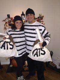 Couples Halloween Costume Idea: Cat Burglars! Get it?! Old
