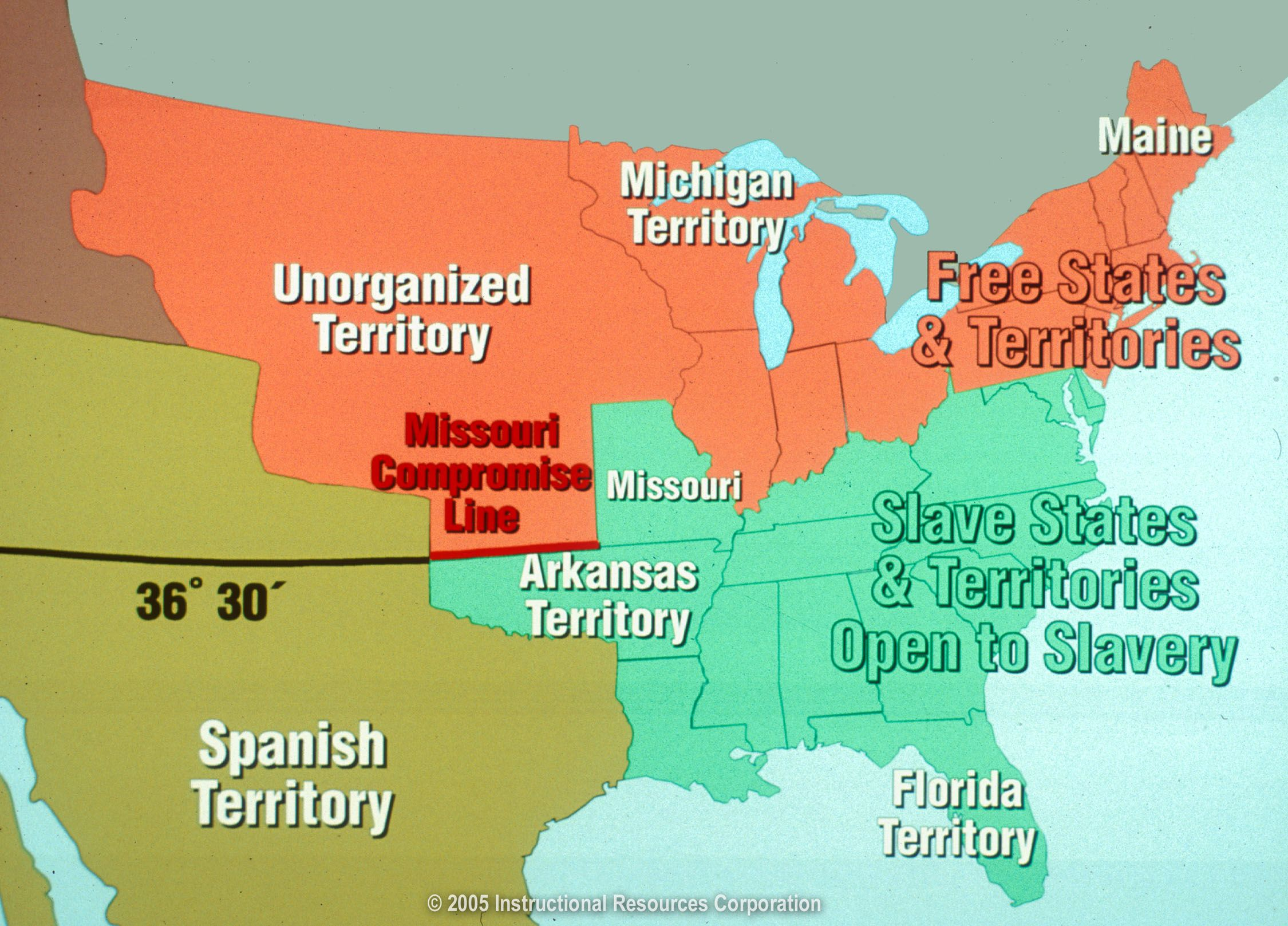 In There Were 11 Free States And 11 Slave States