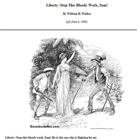 Political Cartoon, Spanish-American War: Philippines