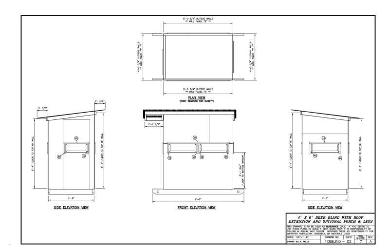 Please critic my 4x6 deer blind layout. Plans will follow