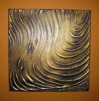 Original Modern Wall Art Abstract Contemporary Gold Black ...