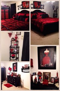 My Red and black paris themed bedroom | Bedrooms ...