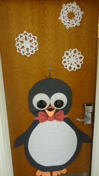 Cute holiday decoration for my dorm door I made with large ...