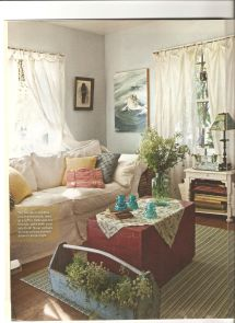 Country Cottage Style Living Rooms Artist Lynn Hanson