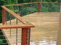 Modern Wire Fence Deck, Patio, Porch, Balcony Cable ...