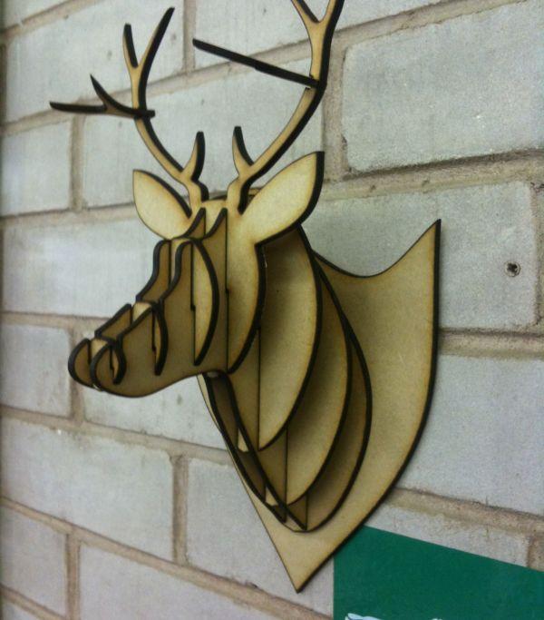 Cardboard Deer Head Template