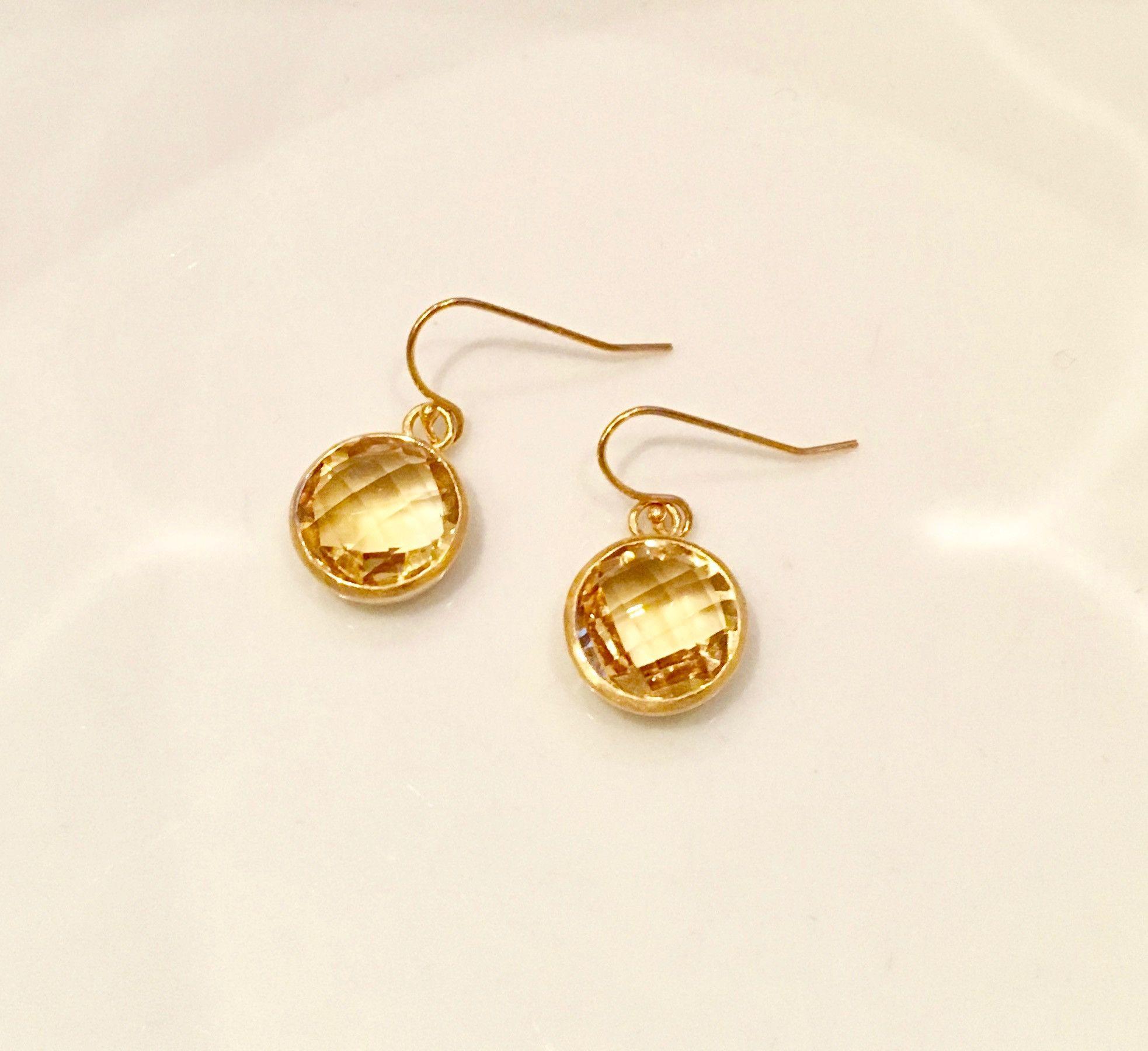 Gold Citrine Earrings Uk 9ct White Gold Citrine Heart
