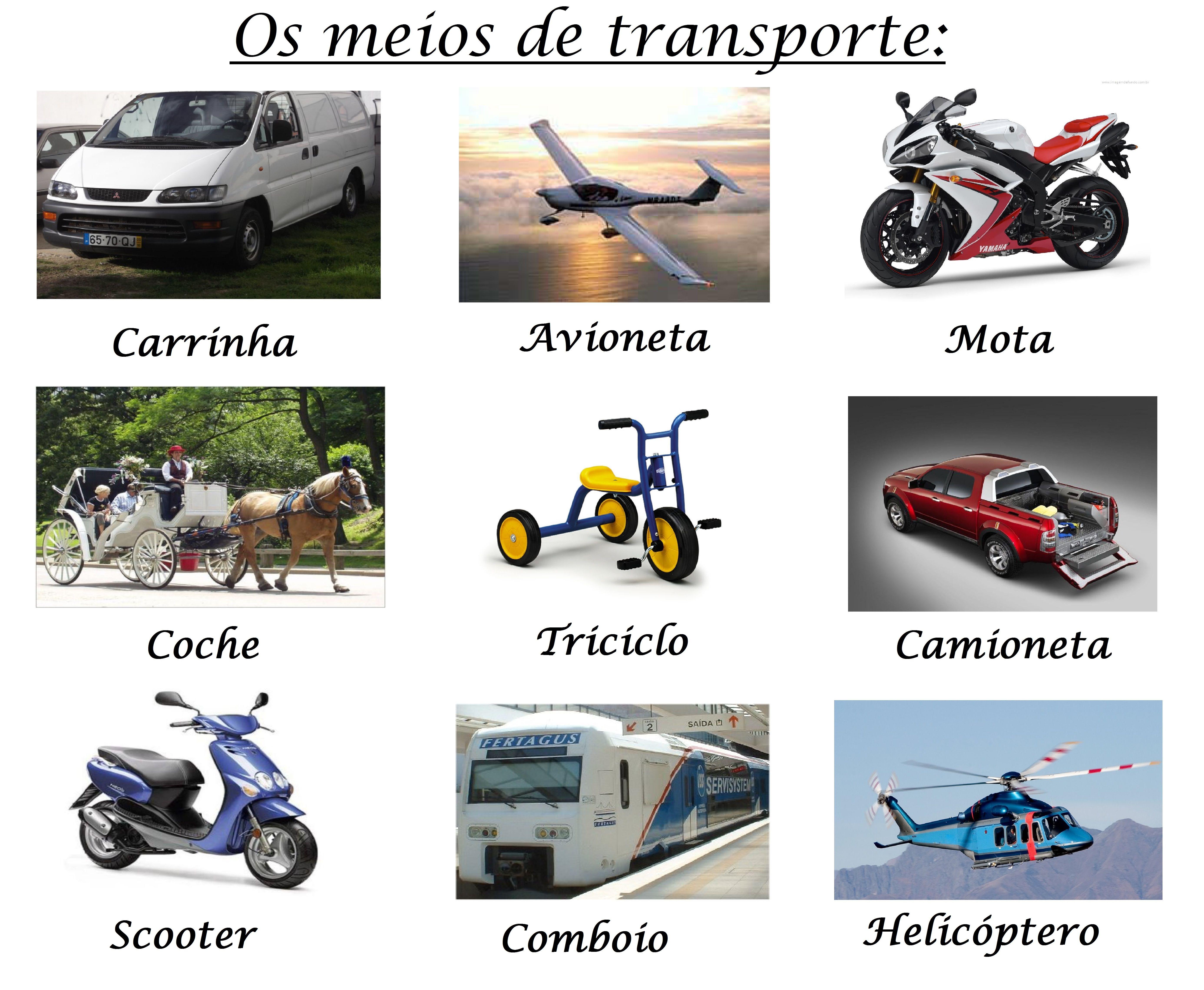 Qual E O Teu Transporte Favorito