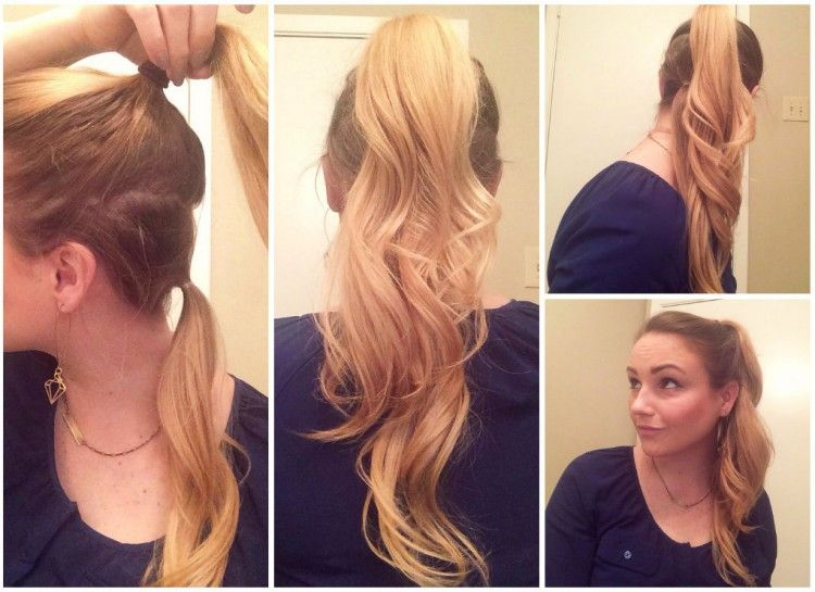 Make Your Hair Look Longer With This Double Ponytail Trick! Hair