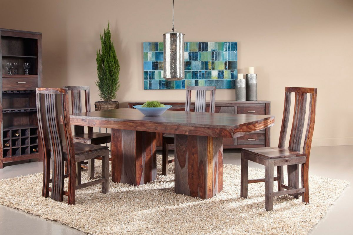 Zebrano Dining Set with Six Side Chairs from GardnerWhite Furniture gw2win  Home  Pinterest