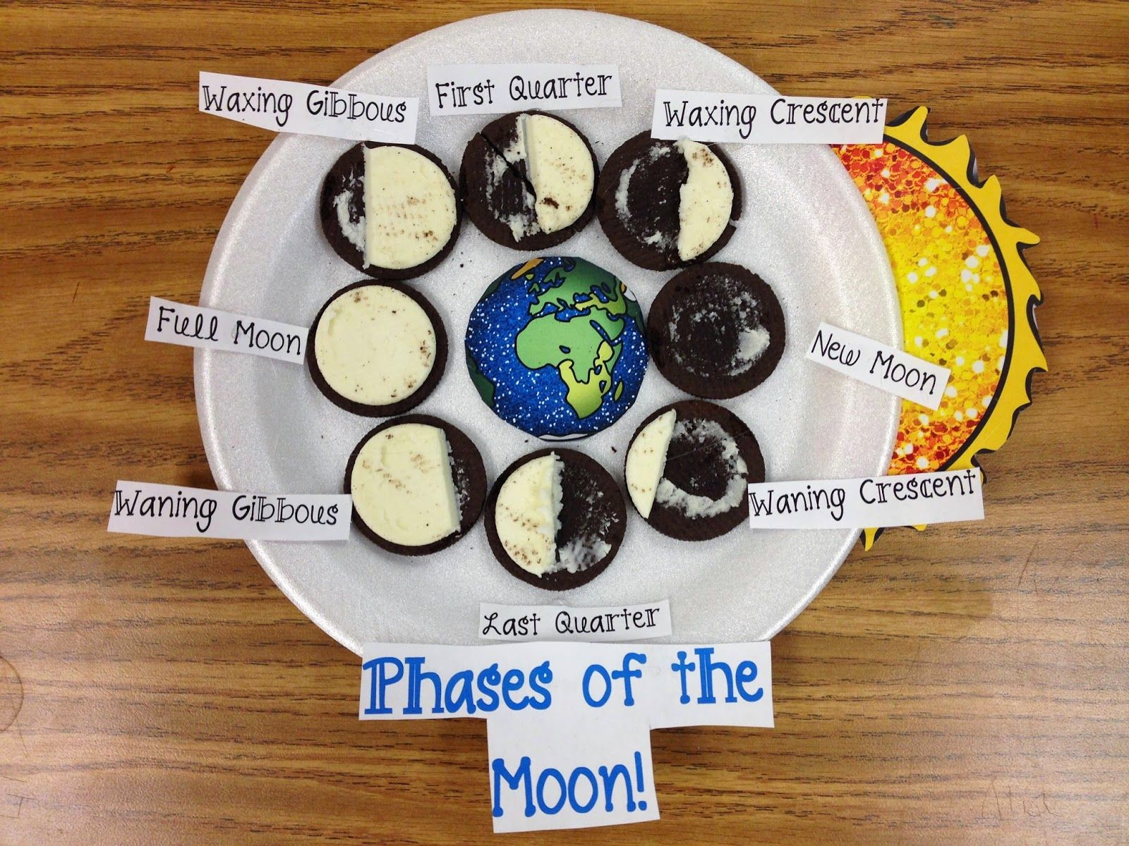Phases Of The Moon Activity With Oreo Cookies