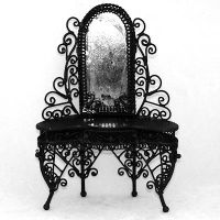 Handcrafted Halloween Haunted Black Vanity Table | The ...