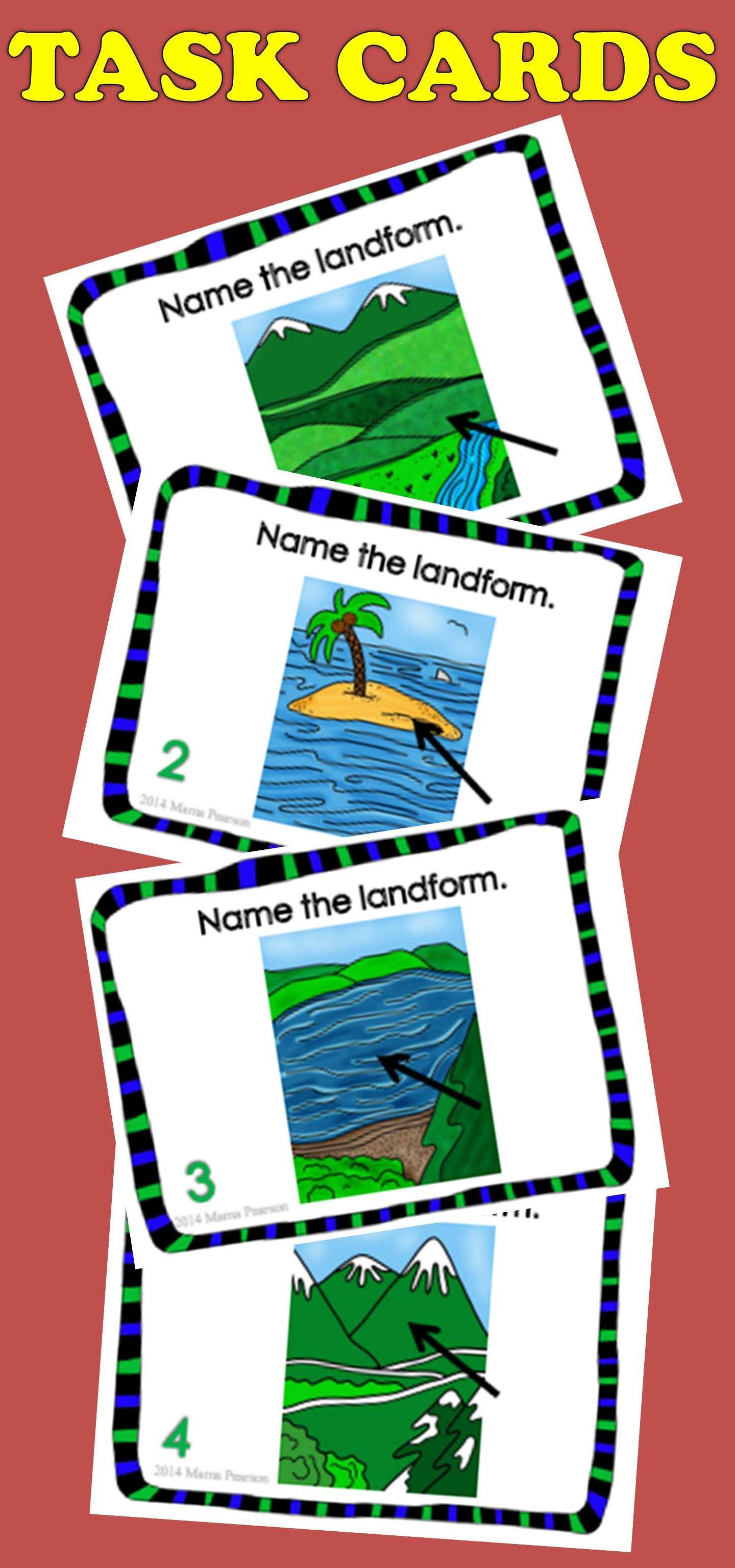 Landforms Posters Games Task Cards And Puzzles