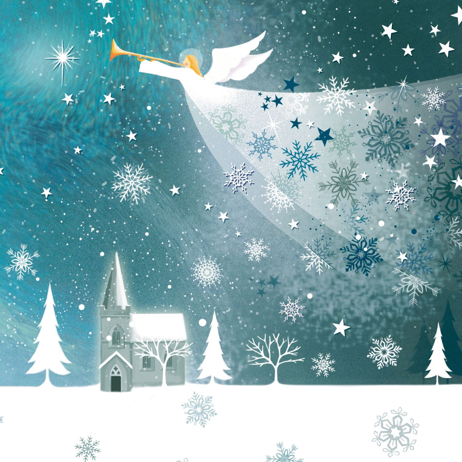 When you see the beautiful envelope of a christmas card staring back at you, you will have an over whelming feeling of love. angel christmas cards   10 beautiful cards with festive ...