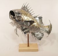 Tin can fish sculpture | Fish | Pinterest | Fish, Recycled ...