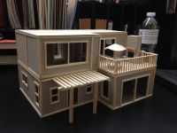 Architectural Dream Beach House Model. Balsa wood and ...