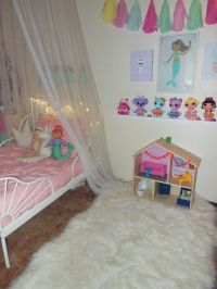 Toddler girl bed with IKEA minnen bed frame and Target ...