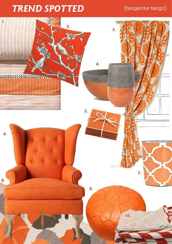 Trend Spotted Tangerine Tango Part II Modern Eve Walls