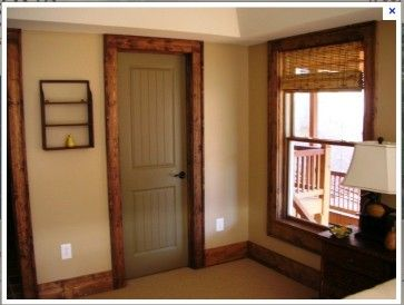 Image Detail For Painted Interior Doors With Stained Trim Houzz Also Rh  Pinterest