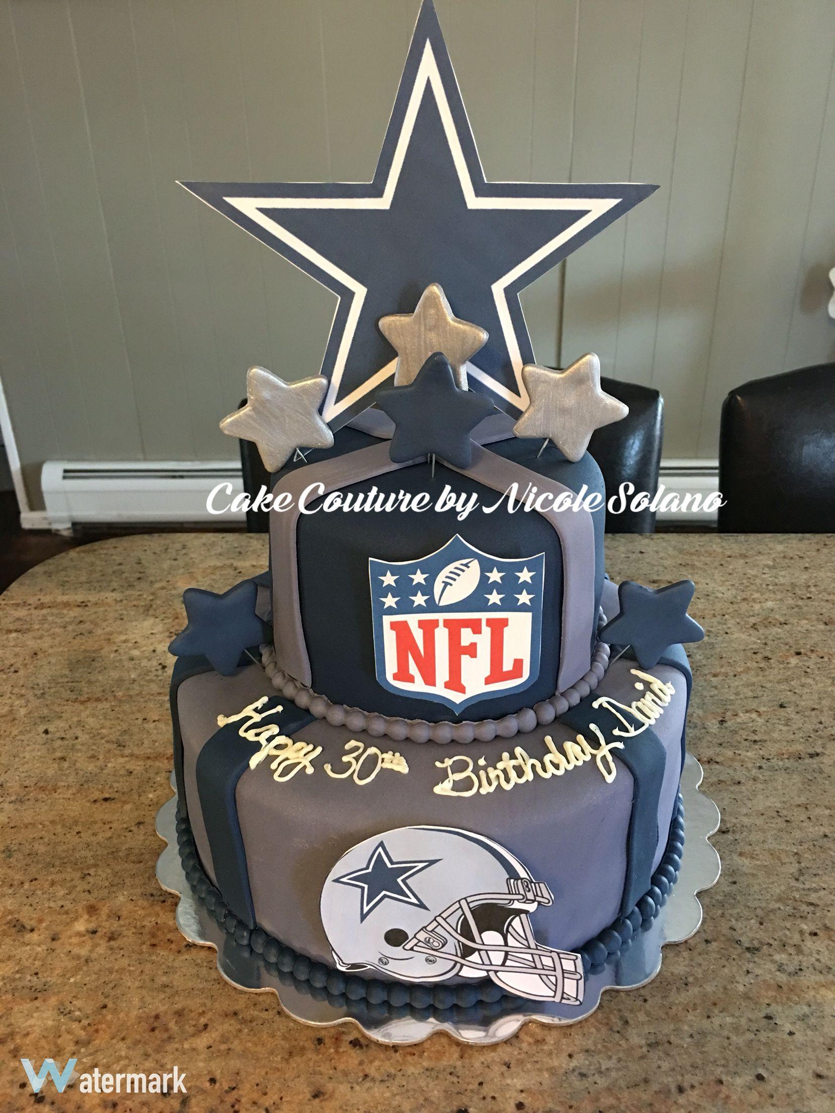 Dallas Cowboys Nfl Football Cake