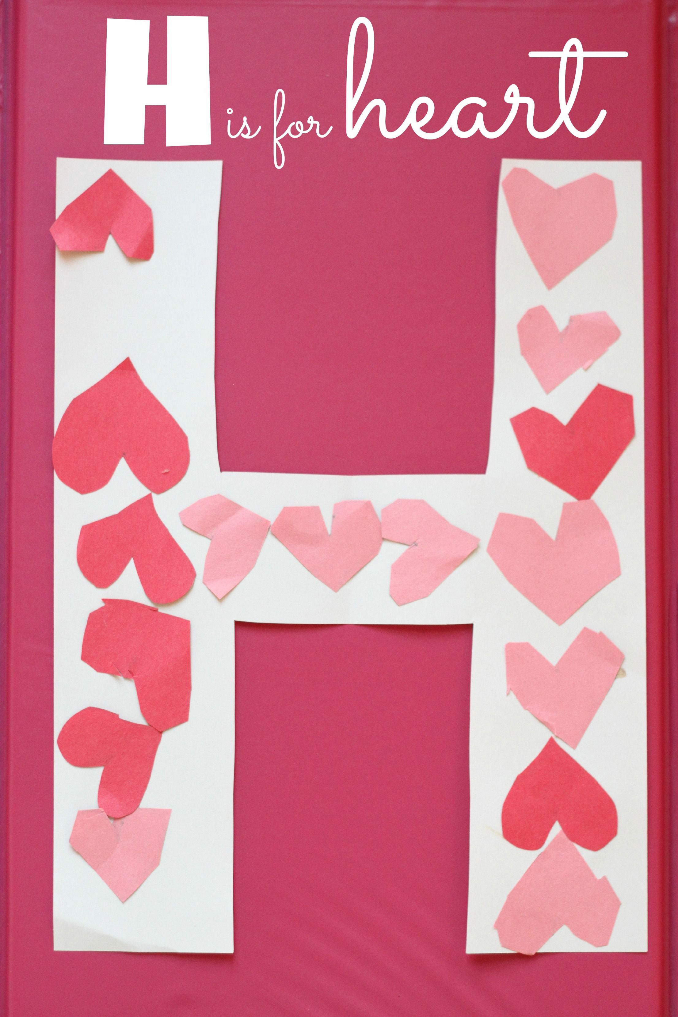 H Is For Heart Alphabet Craft