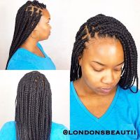 Box Braids done by London's Beautii hair salon in Bowie ...