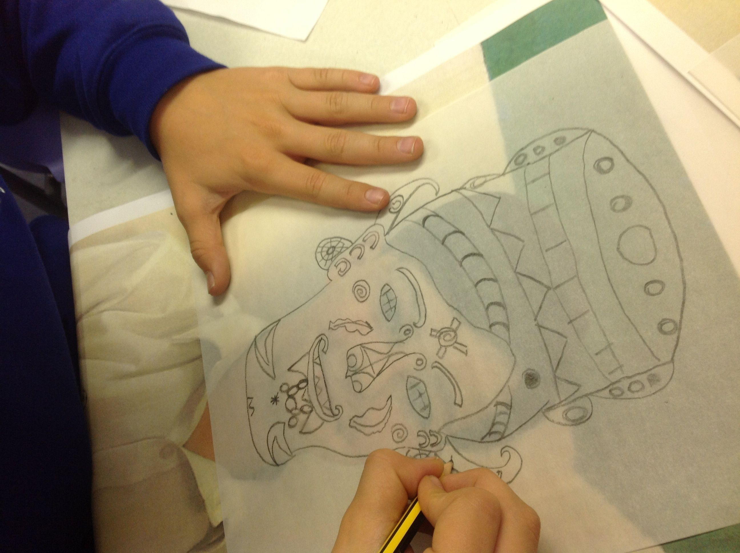 Mayan Self Portraits Early Stage Of Project