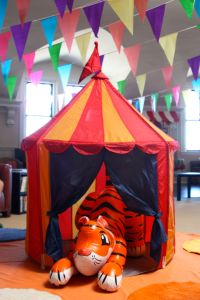 Circus Party - IKEA tent and blow-up tiger | Circus ...