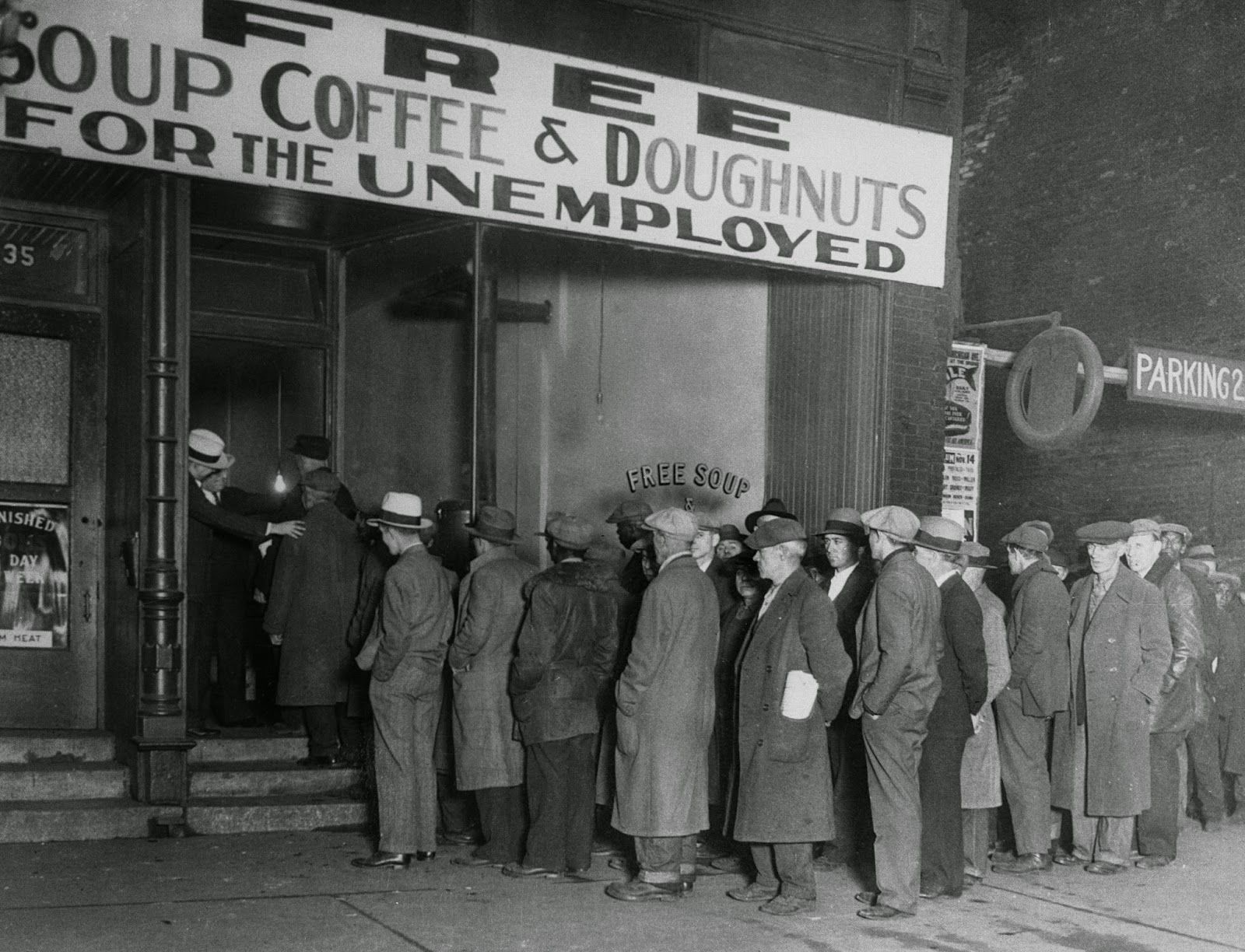 soup kitchens in chicago kitchen curtins men line at al capone 39s 1930