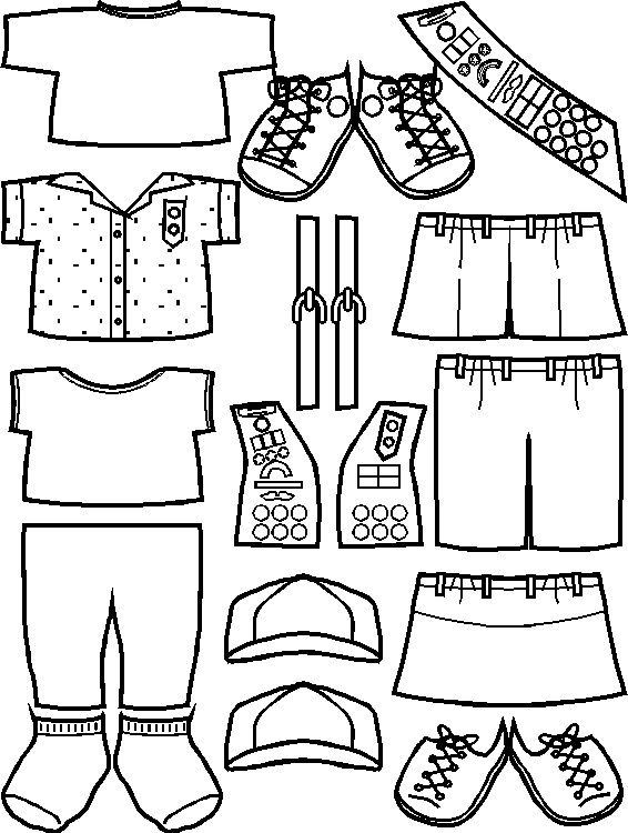 Girl Scout Junior Clothes for Paper Dolls from Making