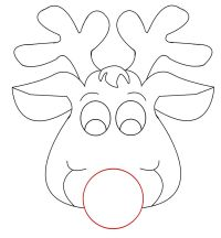 Rudolph Reindeer Face Craft for Coloring | Responses on ...