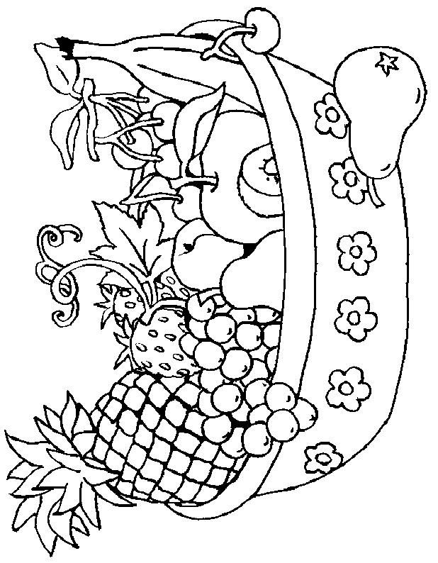 Vegetables coloring page 2 is a coloring page from Fruit