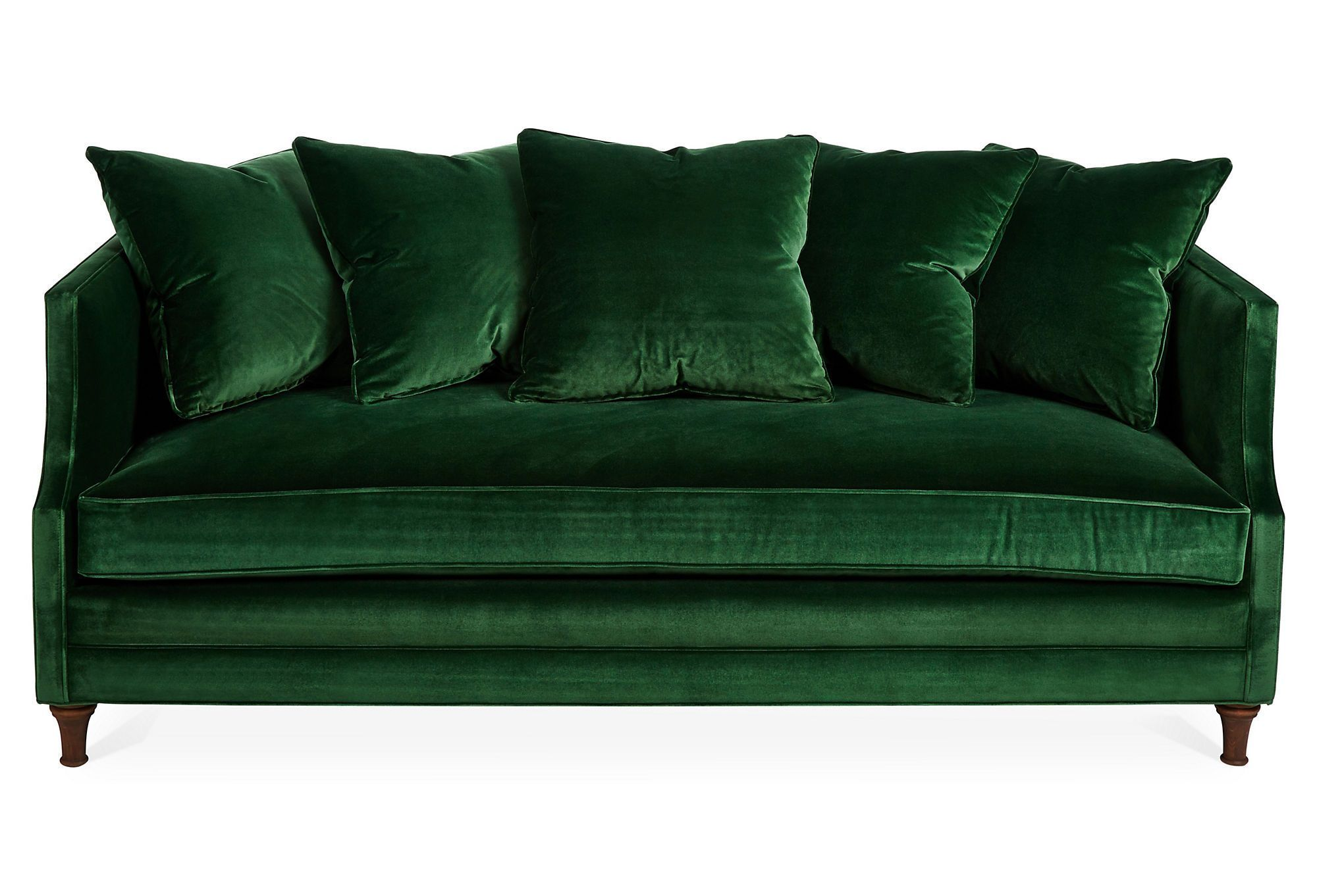 emerald green velvet chair folding materials dumont 85 quot sofa one kings lane КОЛЛАЖИ