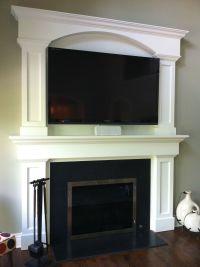 Custom Fireplace Surround TV Above Fireplace Granite Face ...