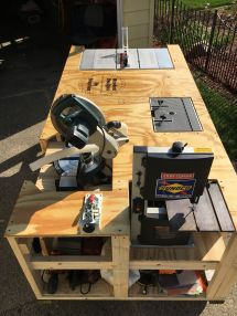 Woodworking Table Saw Workbench