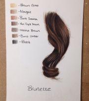 realistic hair brunette work