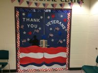 Veterans Day door decorations