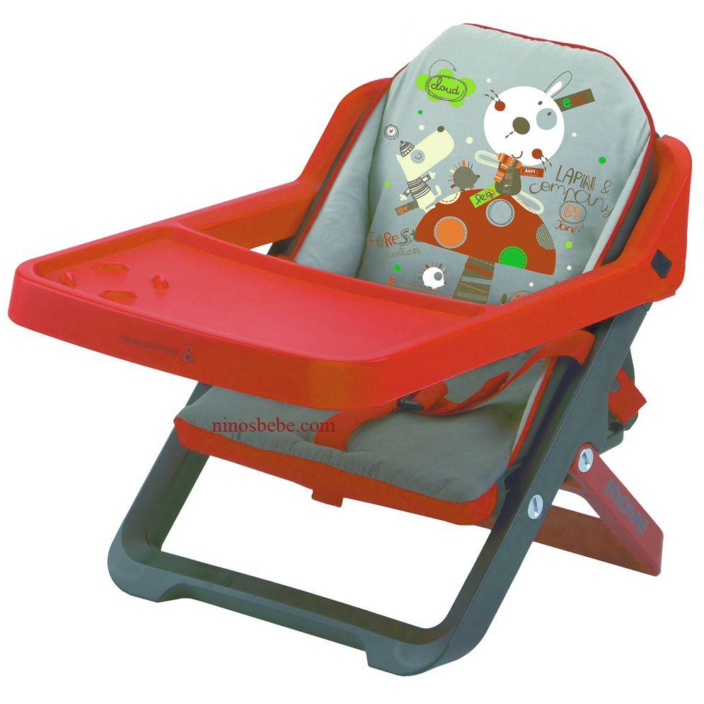 Silla para bebs plegable y convertible en trona se