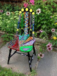 Cat painted chair | colourproject | Pinterest | bemalte ...