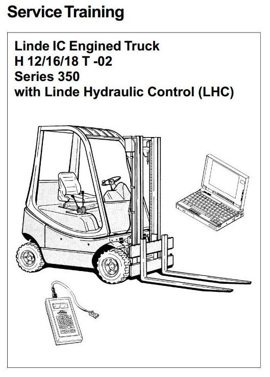 Linde IC-Engined Forklift Truck 350-02 Series: H12, H16