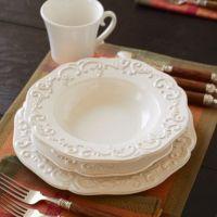 These match my plates : ) Baroque 16-Piece Dinnerware Set ...