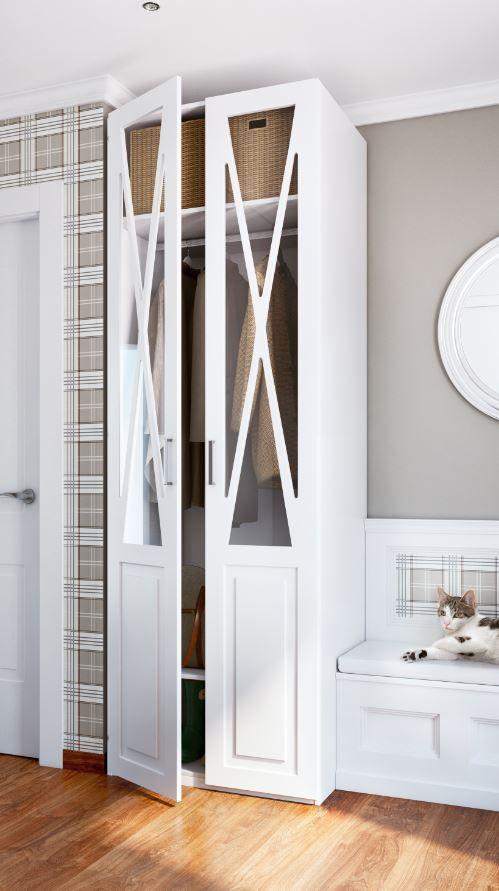 Aprovechar el espacio del recibidor es posible un armario donde colocar elementos de uso diario como abrigos o bolsos  Organiza tu espacio